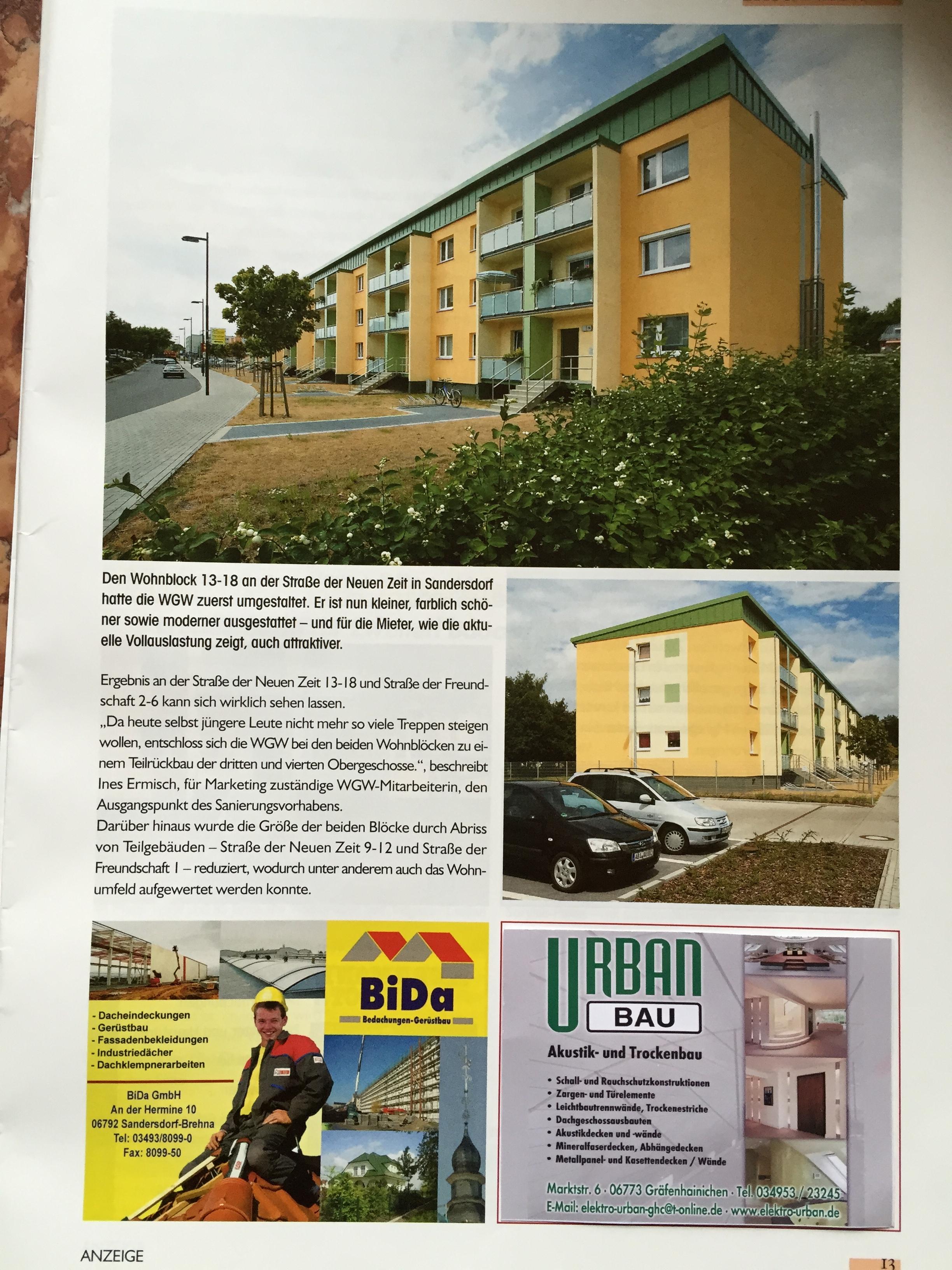 In Sandersdorf wurde durch unser Fachpersonal der Trockenbau realisiert.